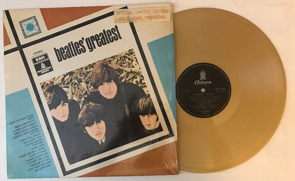 The Beatles Greatest 1975 Dutch Lp Omhs 3001 On Gold Color Vinyl The Beatles Vinyl Gold Color