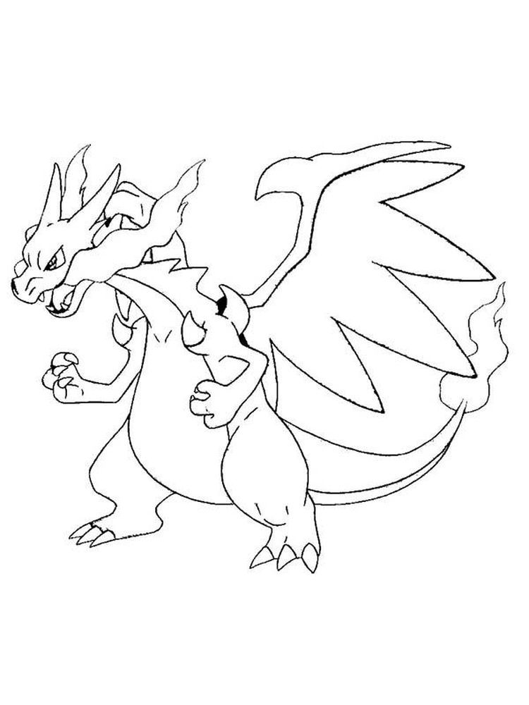 Charizard Coloring Pages Printable Charizard Is One Of The Monsters In The Pokemon Series It Fl In 2020 Pokemon Coloring Pokemon Coloring Pages Pikachu Coloring Page