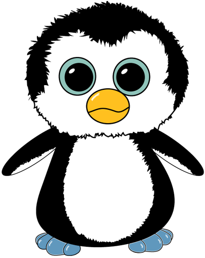 How To Draw A Cute Cartoon Baby Penguin