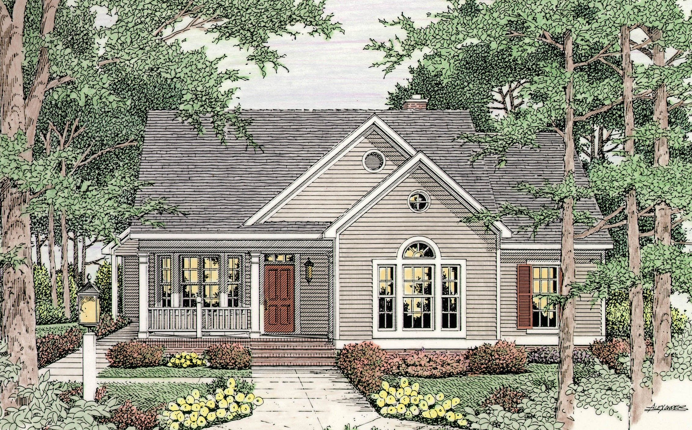 Country Style House Plans | Southern Floor Plan Collection |Open Floor Plans Country Style