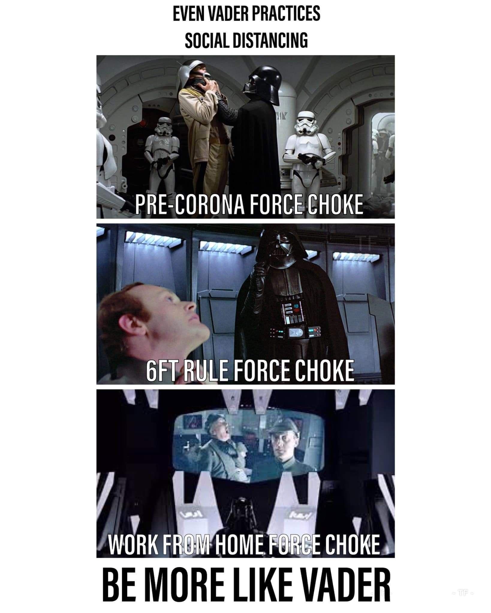 Star Wars And Social Distancin Funny Memes Star Wars Memes Memes