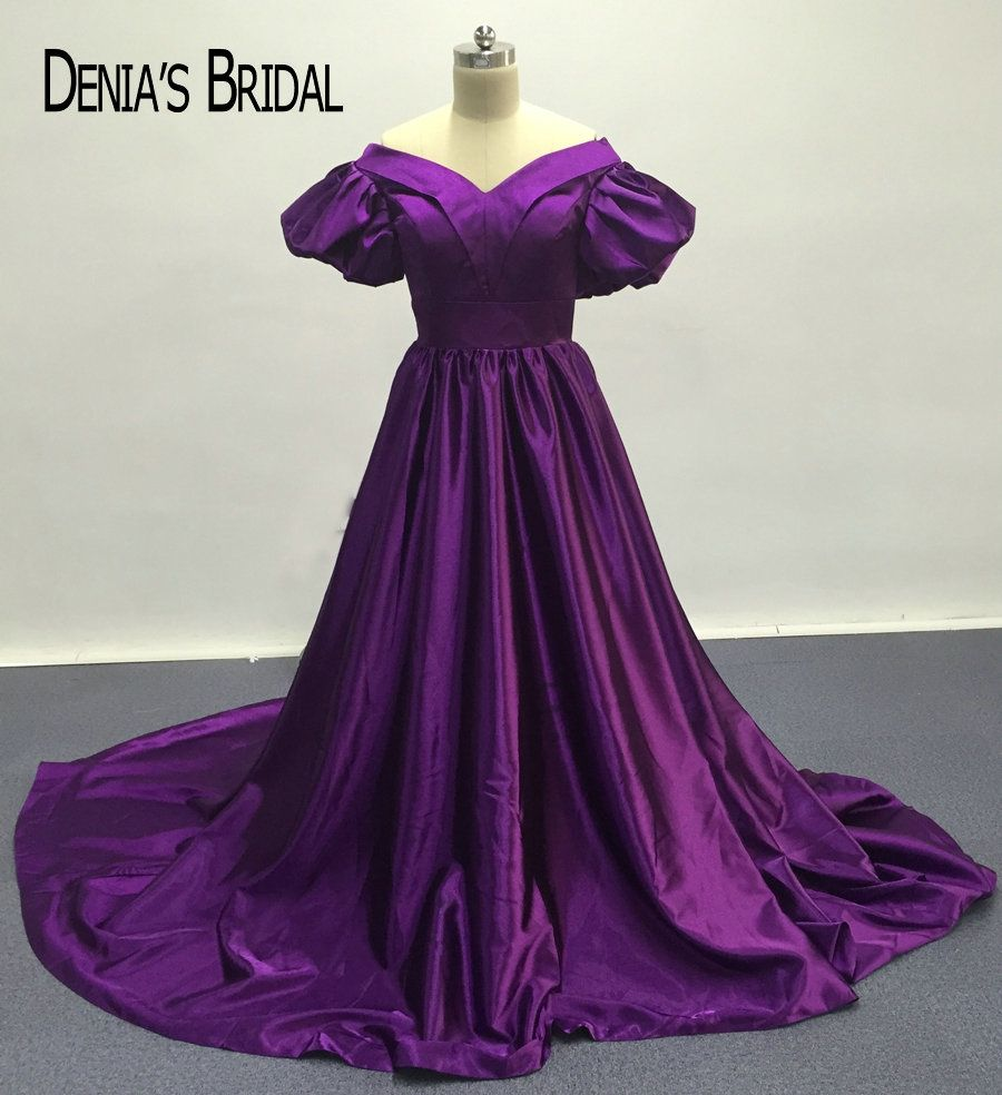 dark purple aline evening dresses with v neckline short