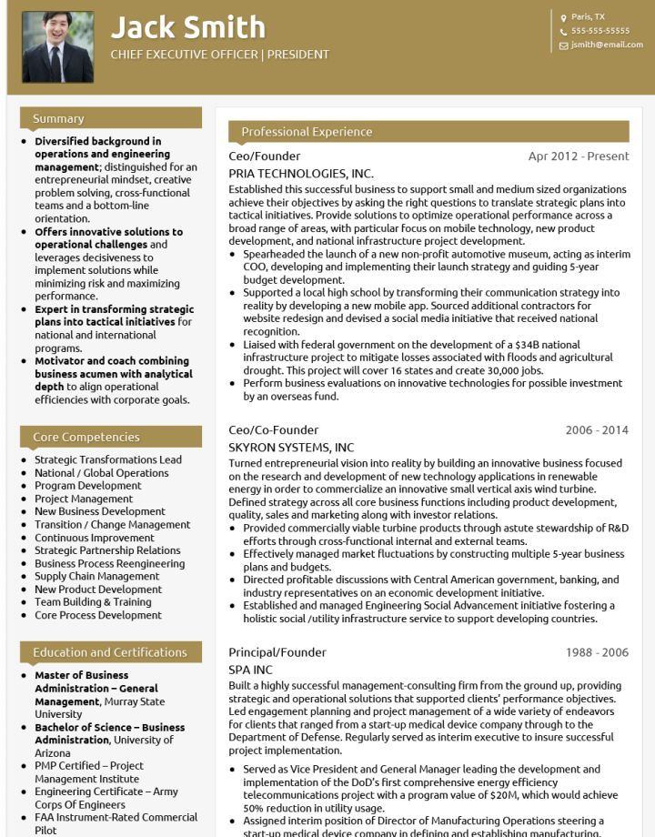 I see CVs coming through our agency that are still nowhere near as - chief project engineer sample resume
