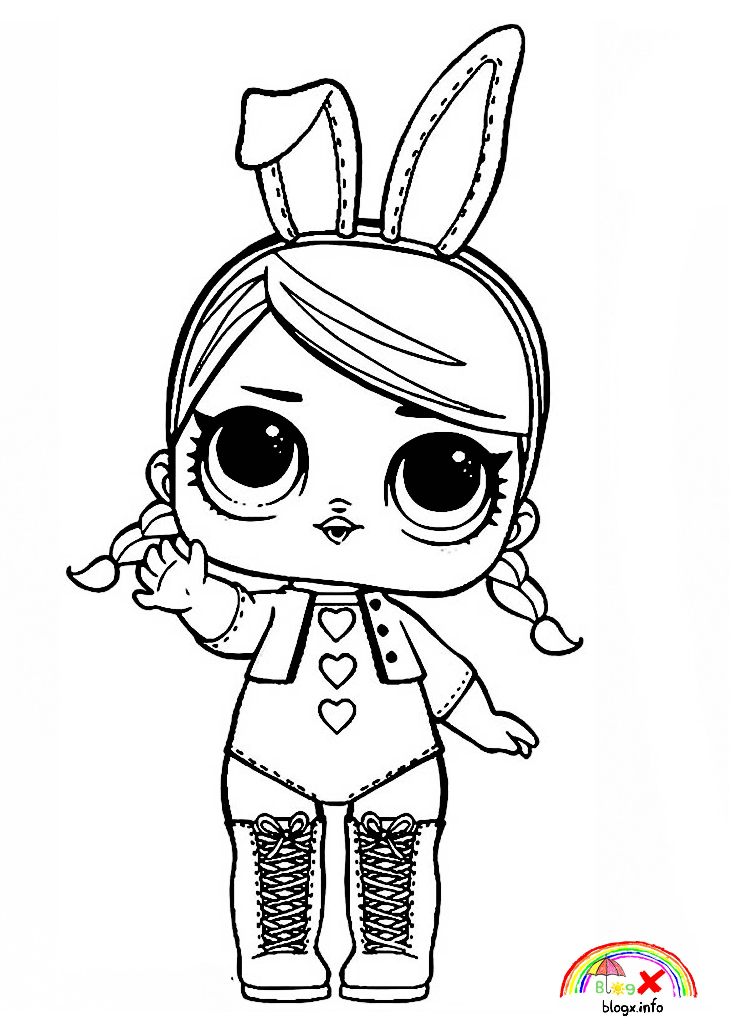 Bunny Costume Lol Surprise Dolls Coloring Page Mandala Coloring Pages Coloring Pages For Kids Tattoo Coloring Book