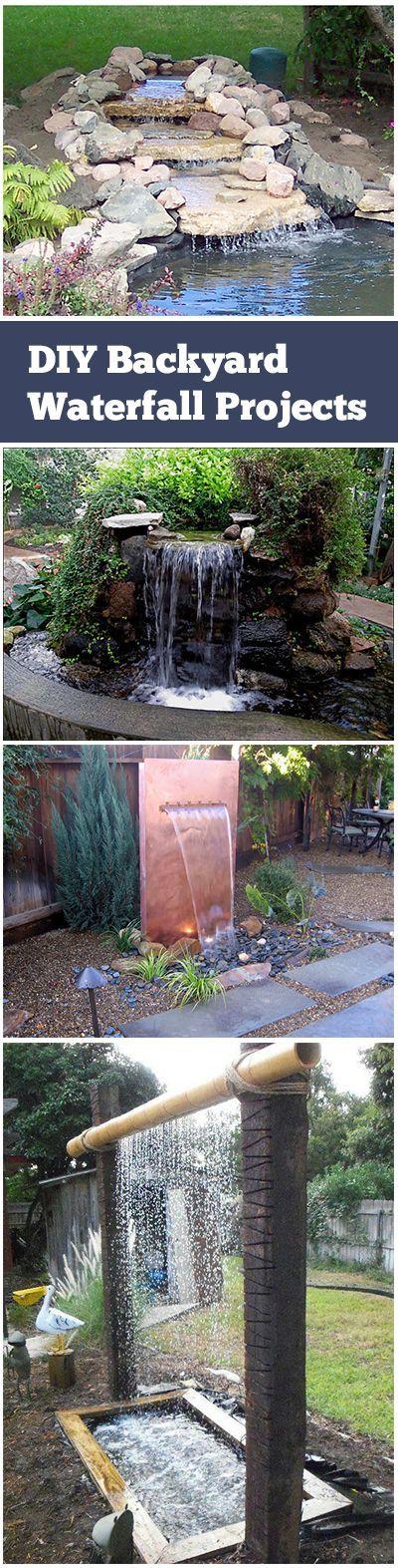 Diy Backyard Waterfall Projects Waterfalls Backyard Backyard Water Feature Diy Backyard