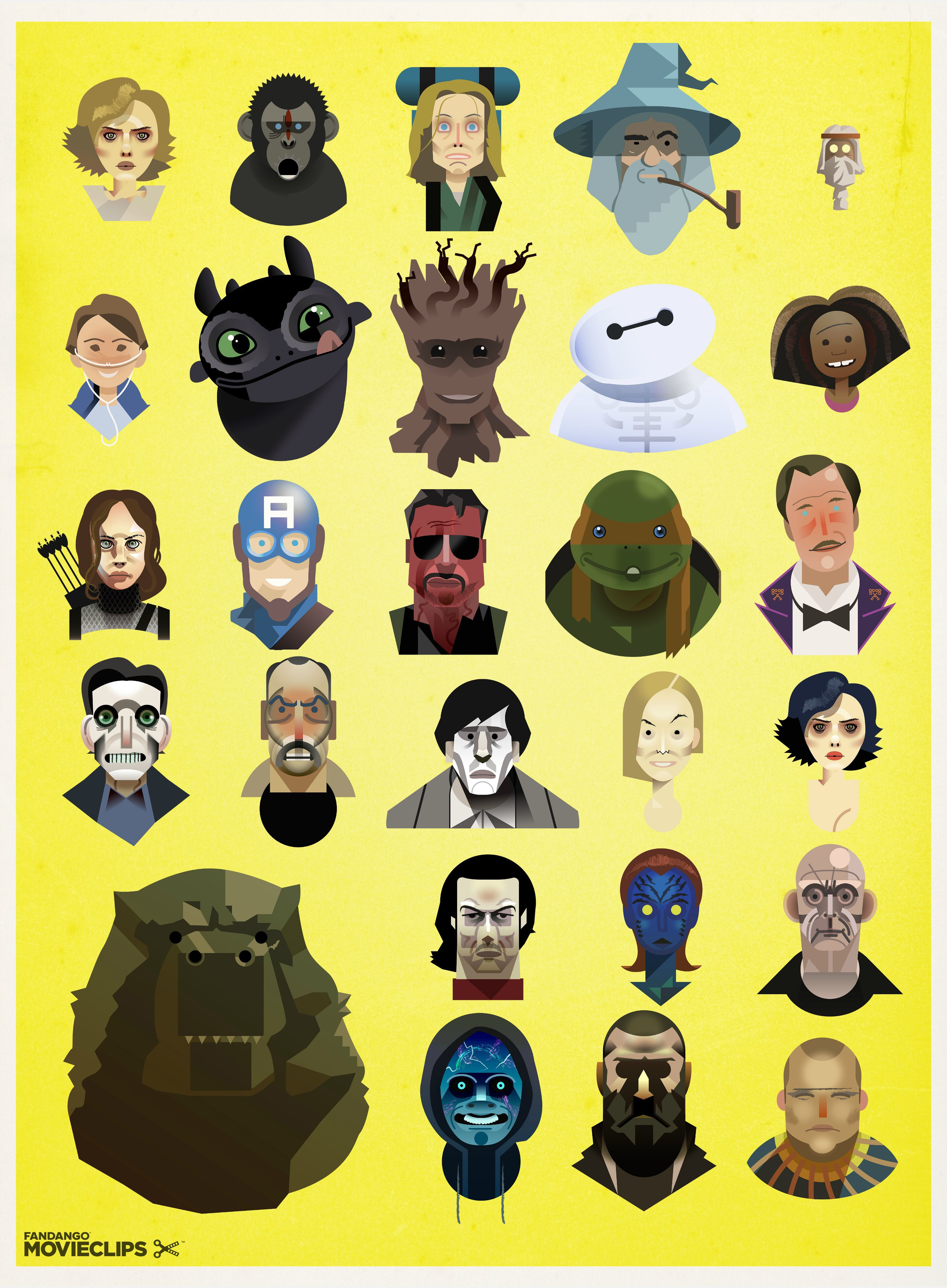 Awesome Movie Characters of 2014 Poster