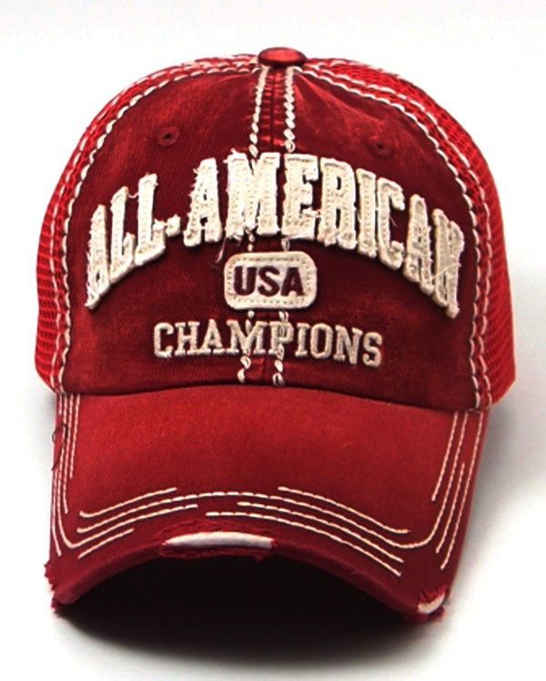 All American Girl Hat in Red