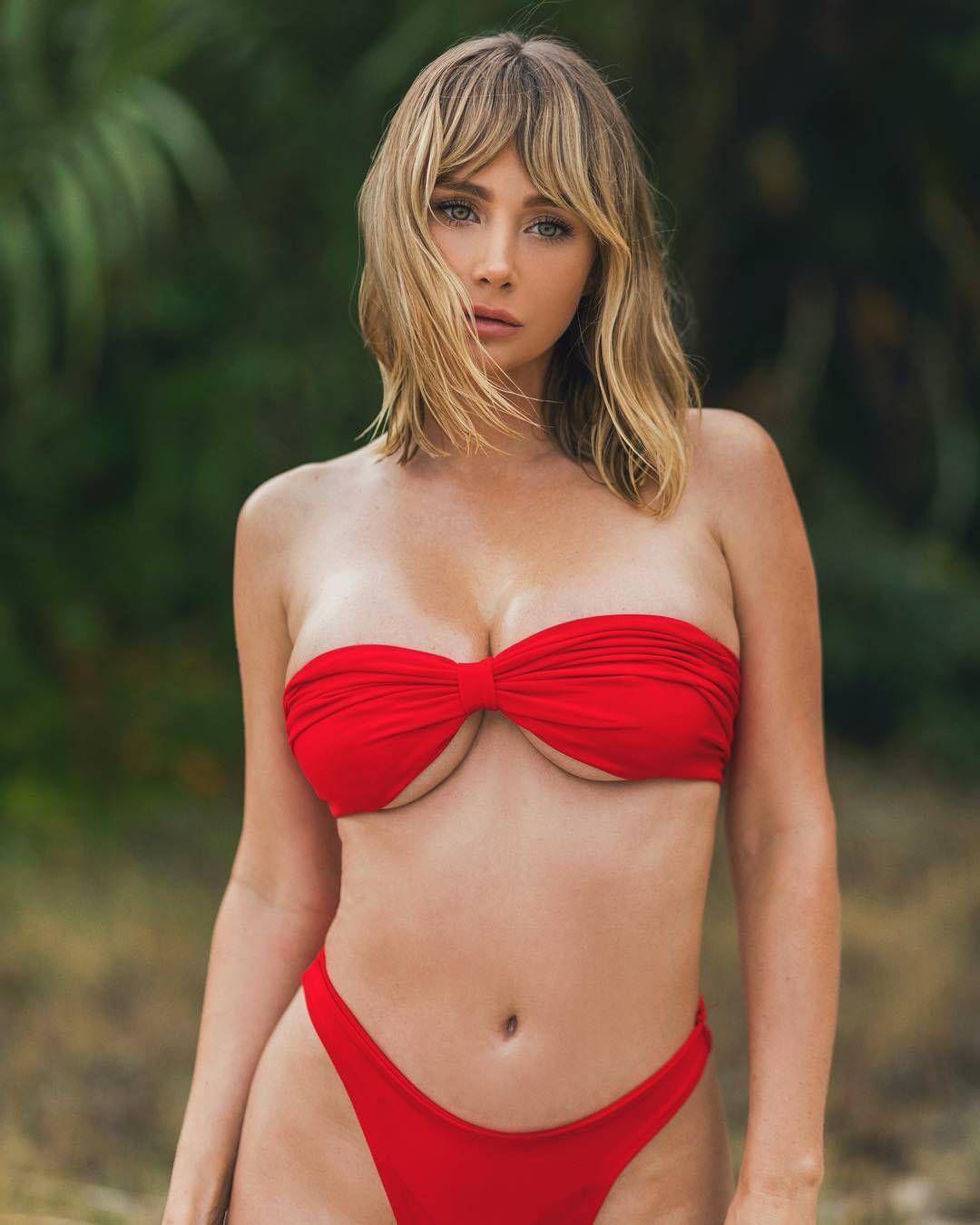 9d10905d2a5e4 Sara Jean Underwood Red Bikini