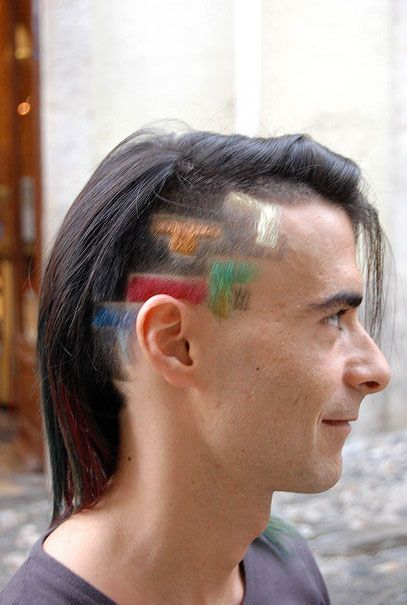 Enjoyable Haircut Tetris Punk Styles Medium Length Layered Punk Hairstyles Hairstyle Inspiration Daily Dogsangcom