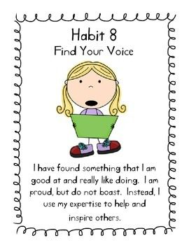 Habit 8 Find Your Voice Poster Explanation With Images