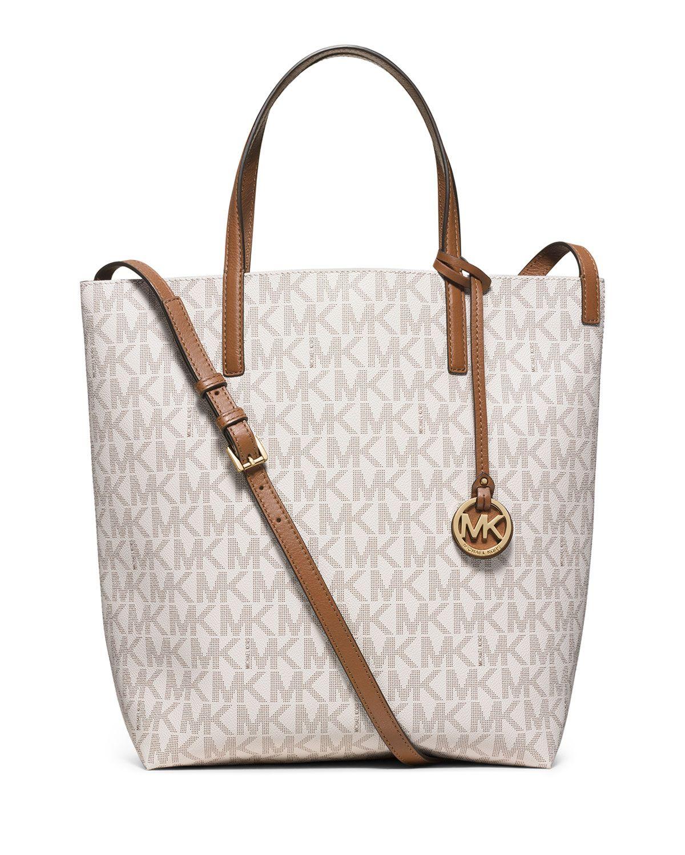 a29cb065704b Hayley Large Convertible Tote Bag, Vanilla (White) - MICHAEL Michael Kors