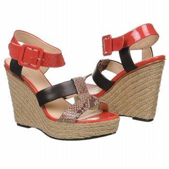 Calvin Klein Ellison Sandals (Taupe/Brown/Coral) - Women's Sandals - M