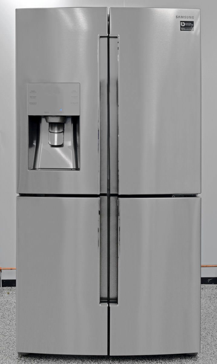 Amazing Highest Rated Counter Depth French Door Fridge: Samsung Four Door. One  Bottom Compartment Can Be Used As Fridge Or Freezer!