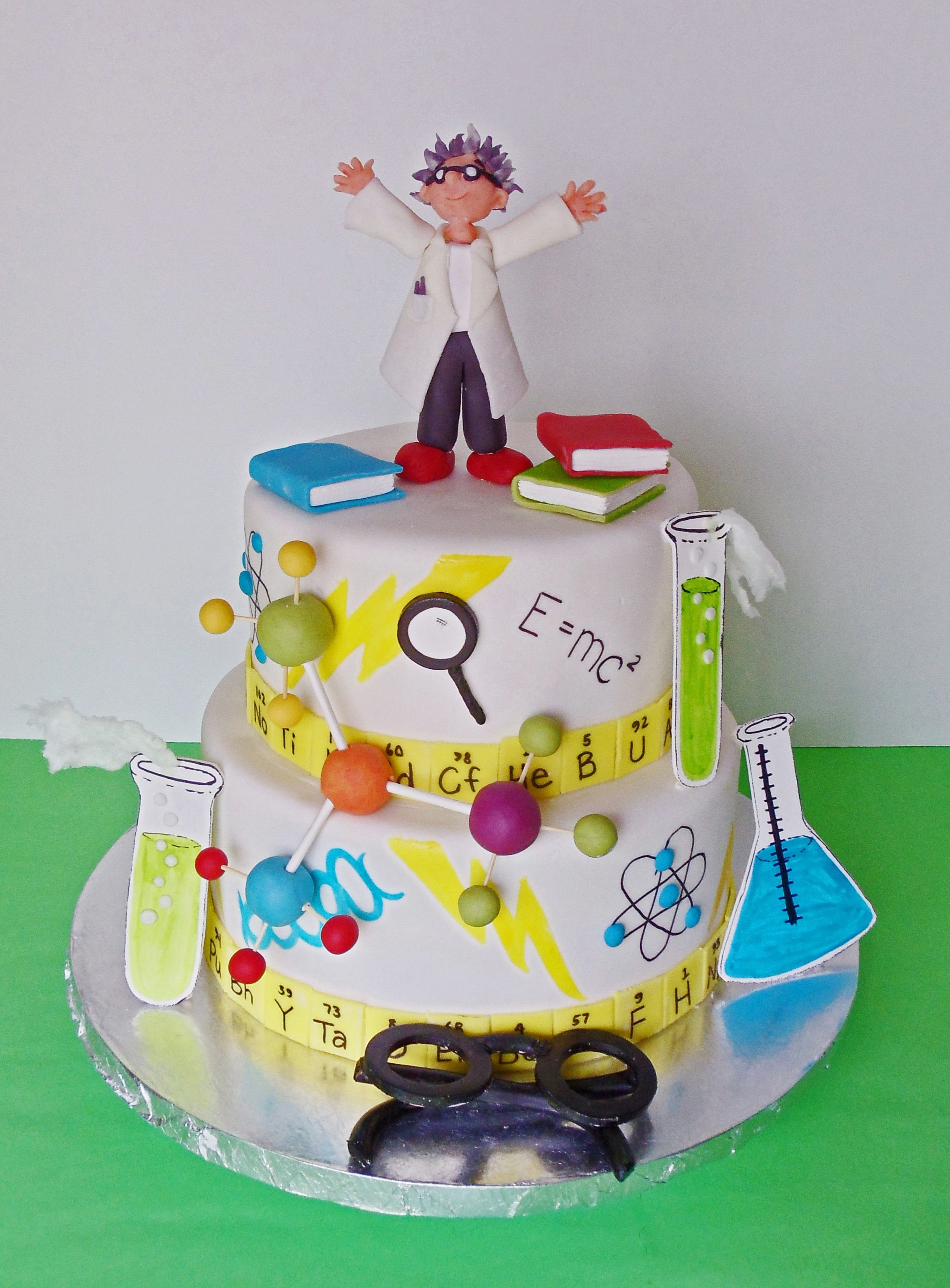 Mad Scientist Cake By Joy S Cake Studio Science Cake Cupcake