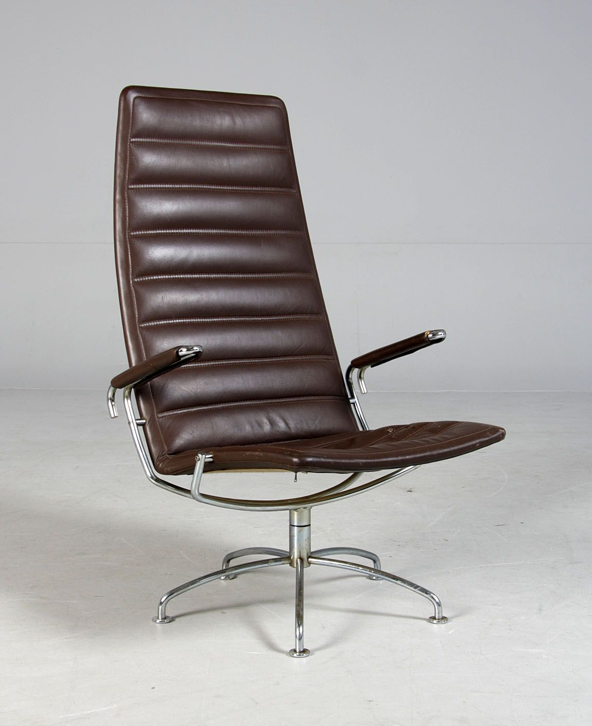 Metal And Leather Chair Jens Ammundsen Chromed Metal And Leather 39sas 39 Chair For