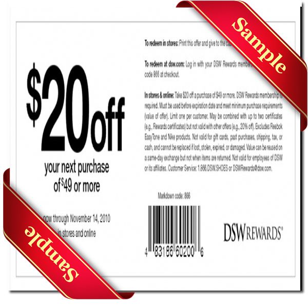 Dsw Printable Coupon June 2015