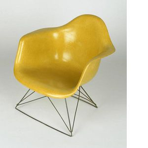 Charles Et Ray EAMES Fauteuil Plastic Armchair With Rod Base - Fauteuil design charles eames