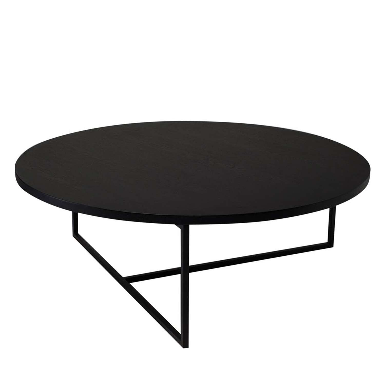 Black Ash Round Coffee Table Modern Coffee Table Round Black