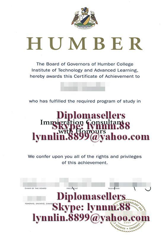 Humber College diploma buy a degree, buy a diploma, fake degree - sample graduation certificate