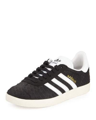 brand new 52220 8ad9c adidas snake-embossed leather low-top sneaker, first introduced in 1966.  Signature three-stripe sides. 1