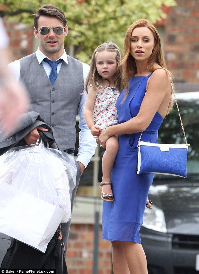 Stylish Guests The Saays Una Healy Was Pictured With Husband Ben Foden And Their Daughter Aoife Belle As They Made Way To Fr