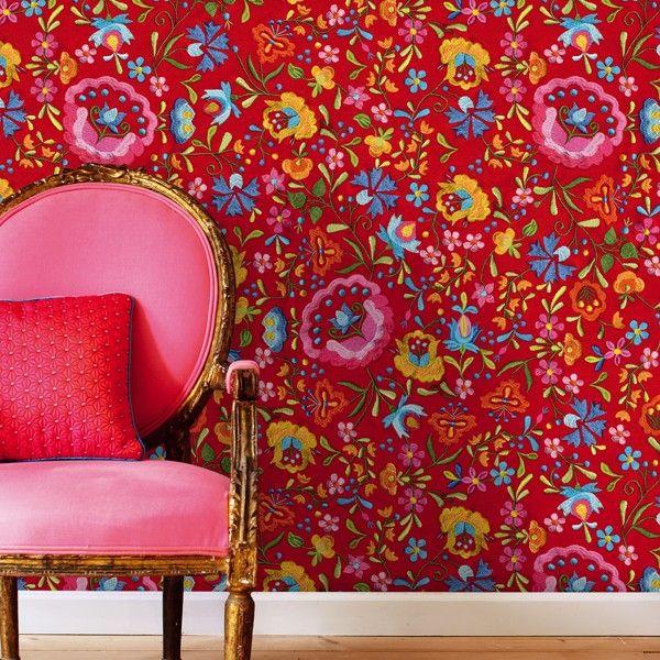 Zauberstübchen - PiP Tapete Embroidery wallpaper Pinterest - wohnung tapezieren ideen