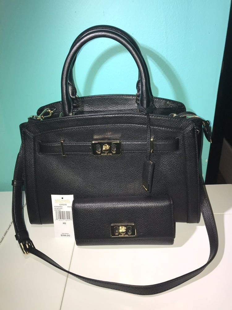 3a43a3bac4fd MICHAEL KORS LEATHER KARSON LARGE SATCHEL BAG And WALLET #fashion #clothing  #shoes #accessories #womensbagshandbags (ebay link)
