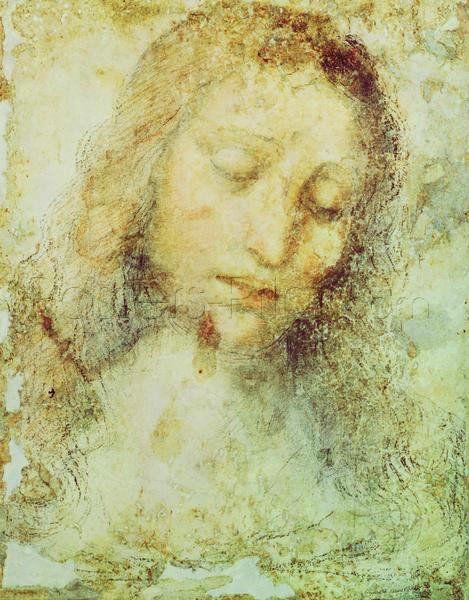 Head Of Christ Giclee Print Poster by Leonardo Da Vinci Online On ...