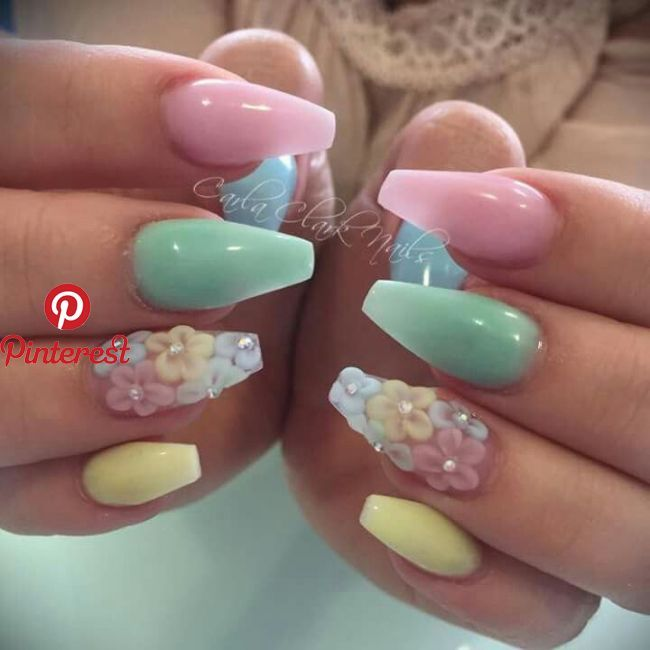 Perfect Spring Nails Easter Nails Easter Color Nails Flower Nails