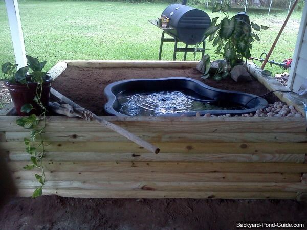 Above ground pond i like that you can plant around it still outdoor living pinterest Diy indoor turtle pond