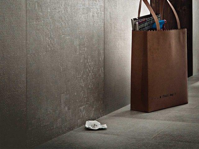 Gres porcellanato effetto cemento interni esterni bagno - Piastrelle effetto cemento ...