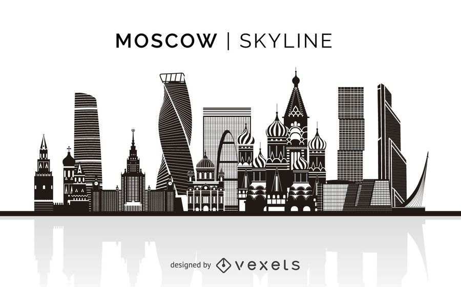 Moscow Skyline Silhouette Design You Can See The Most Important Buildings It S Isolated And It Also Skyline Silhouette City Skyline Silhouette Skyline Design