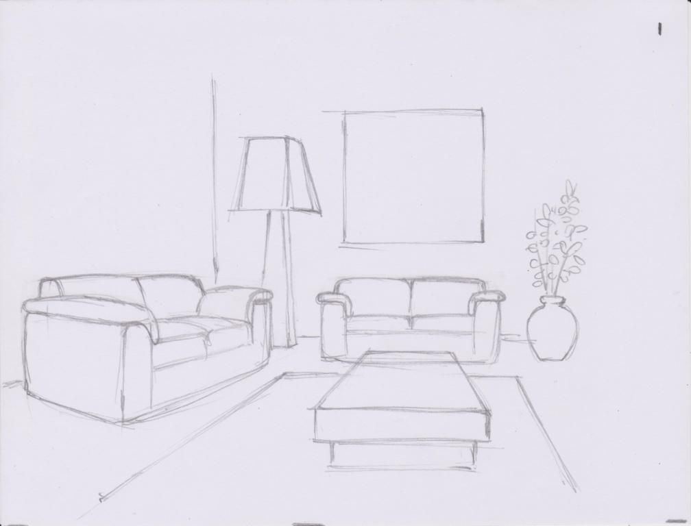 Simple Living Room Drawing Site About Home Room In 2019