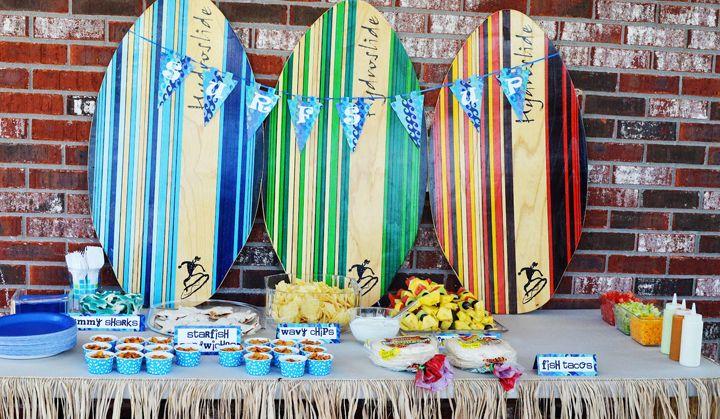 Decorar la casa para una fiesta surfera fiestas - Casa del agua cumpleanos ...