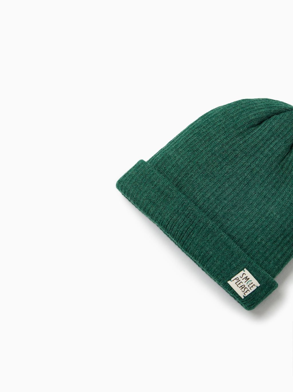 0da9ca26 Image 1 of CUFFED RIBBED CAP WITH APPLIQUÉ from Zara Kids Beanies, Turn Up,