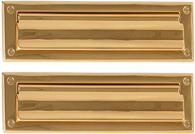 Brass Accents A07 M0010 605 Mail Slot 3 5 8 X 13 Polished Brass Door Mail Slots Amazon Com In 2020 Mail Slots Brass Accents Polished Brass