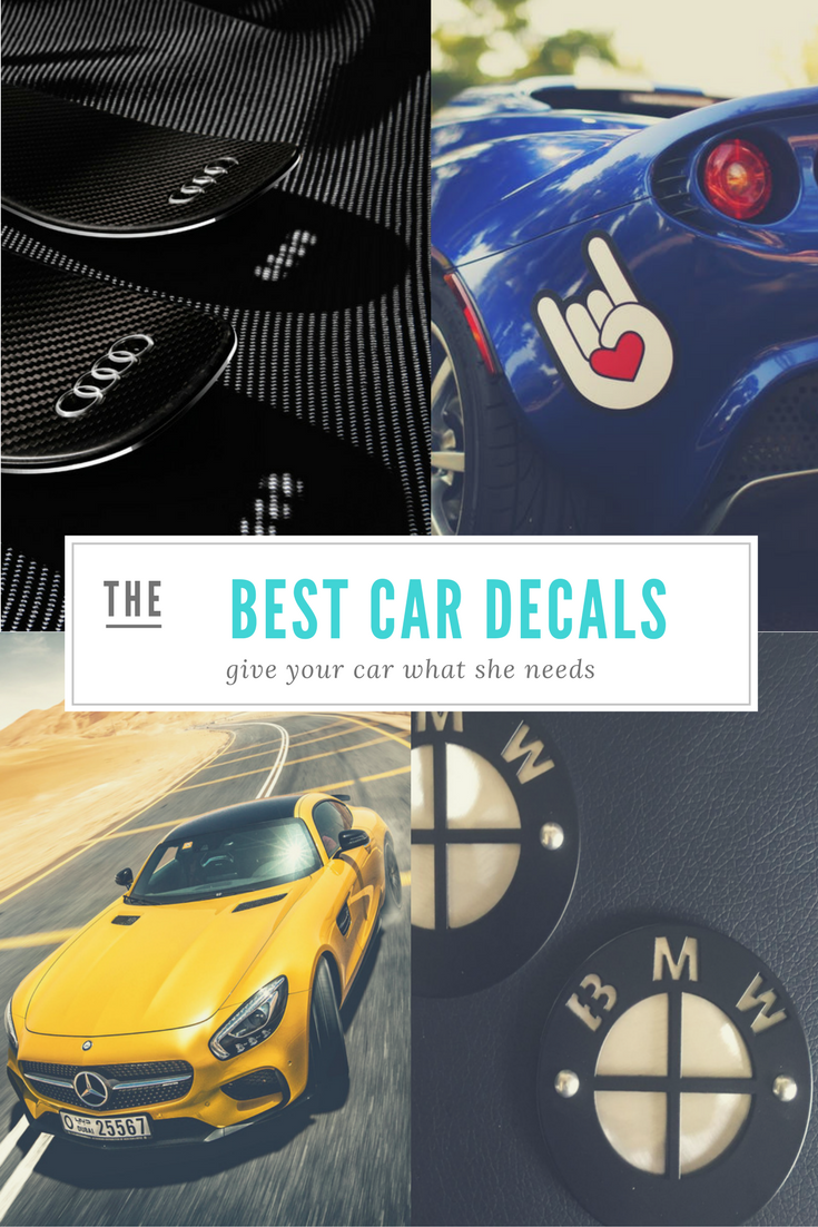 5 decals emblems license plate frames to give your car a makeover