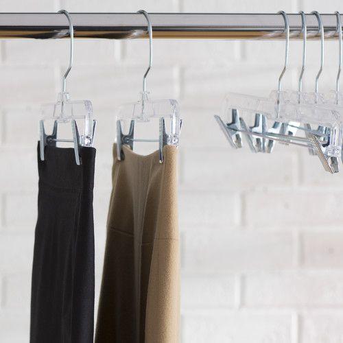 Found it at Wayfair - Wayfair Basics Clear Plastic Skirt Hanger Set