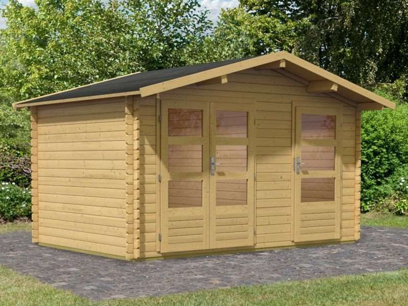 Woodfeeling Gartenhaus Radur 0 28 mm 2 Raum Haus   schönes Premium