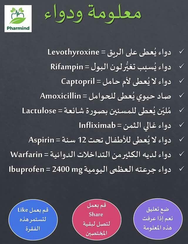 Pin By Salsabeel Al On صيدليتي Health Info Levothyroxine Health Lessons