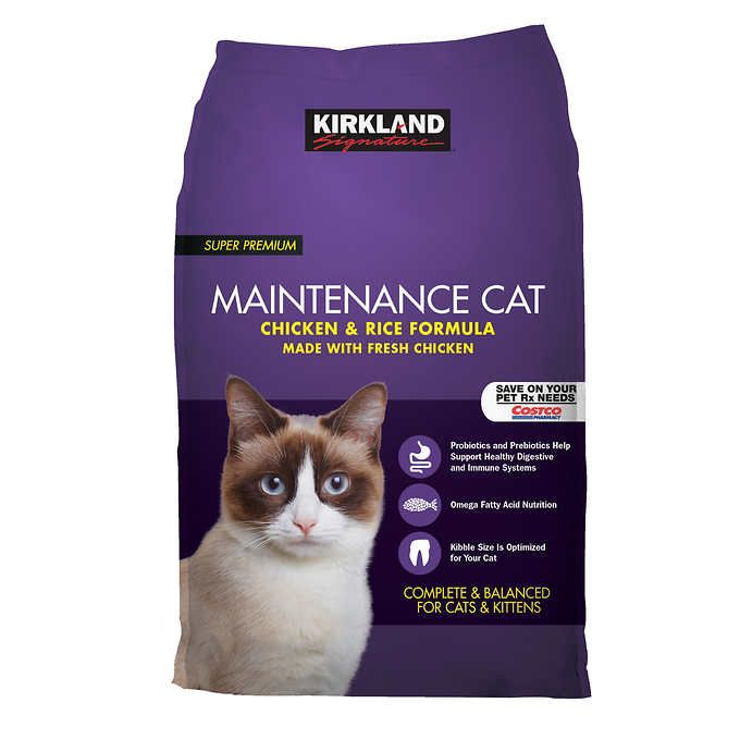 Kirkland Signature Chicken And Rice Cat Food 25 Lbs In 2021 Fermentation Products Natural Chicken Cat Food