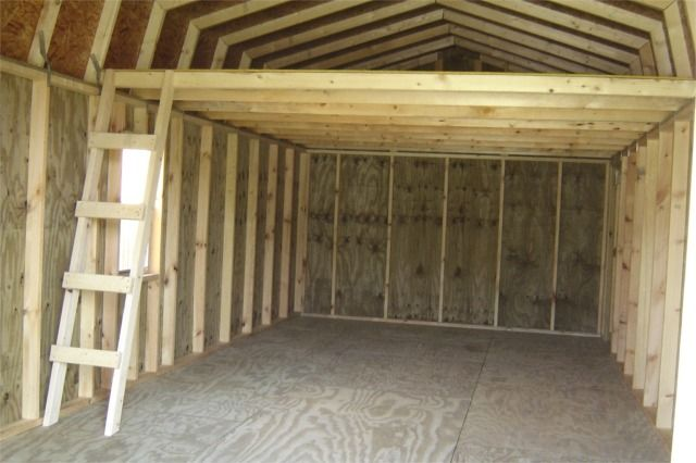 Garage Framed For Storage Loft Garage Loft Shed Plans Garage