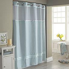 Hookless Hookless Shower Curtain Blue Shower Curtains Extra Long Shower Curtain