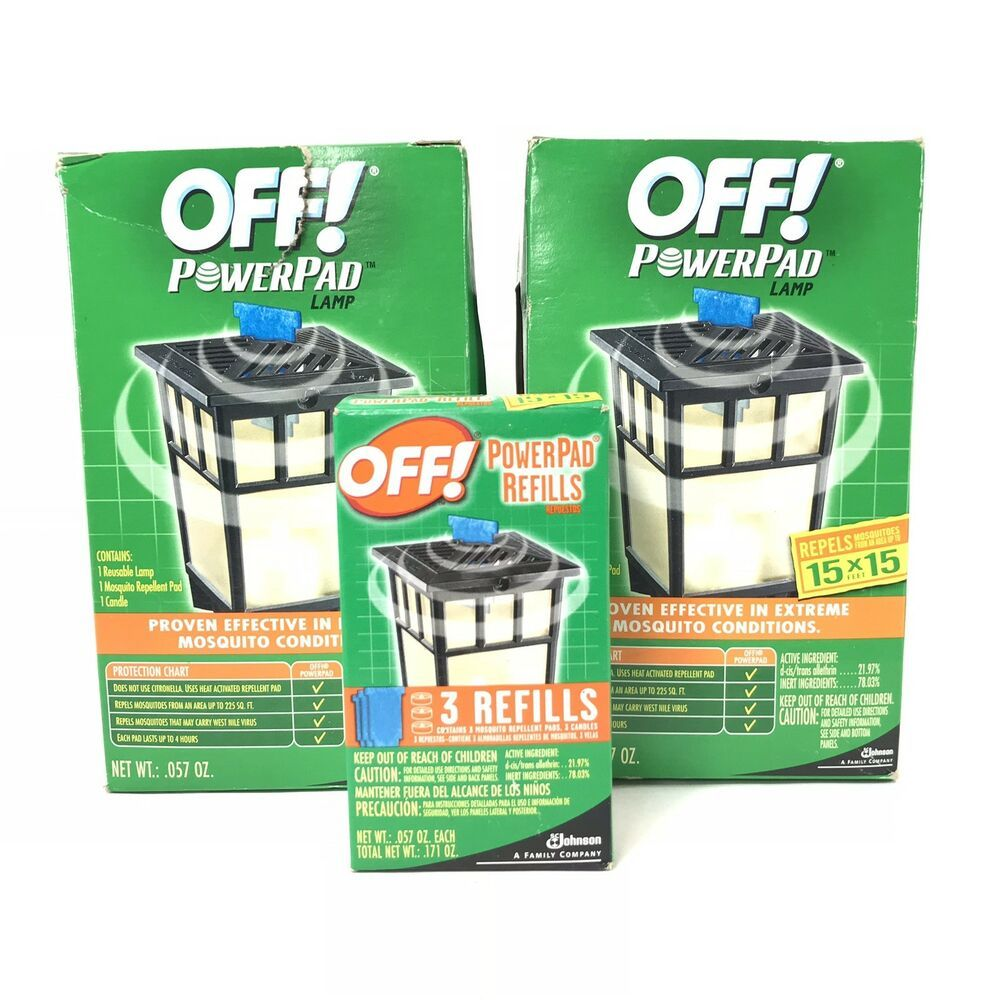 Off 2 Patio Deck Powerpad Lamps 3 Refill Mosquito Repellent Pads Candle Box Ebay Candle Box Mosquito Repellent Mosquito