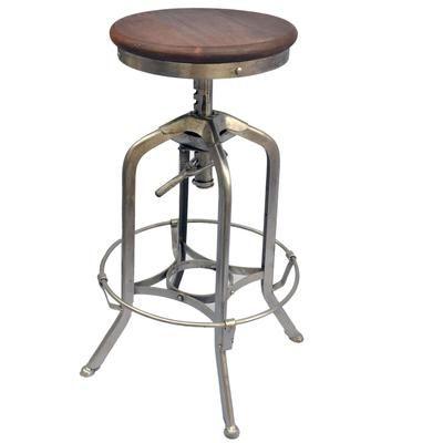 Worldwide Homefurnishings Inc. - Devan-Adjustable Stool-Antique ...