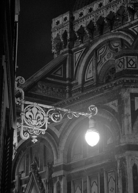 Italian Florence: Night Photography, Dark Night