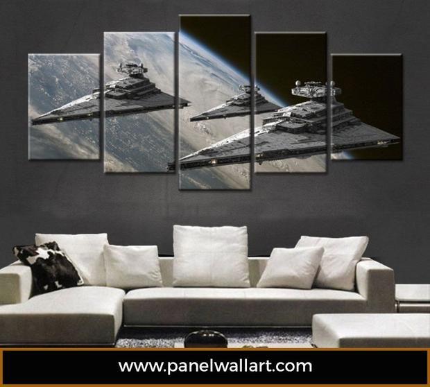 Imperial Star Destroyer 5 Panel Star Wars Canvas Art Panelwallart Com Star Wars Kamer Star Wars