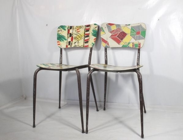 Sedie Formica ~ Sedie in formica anni s twins chairs cubist mid century