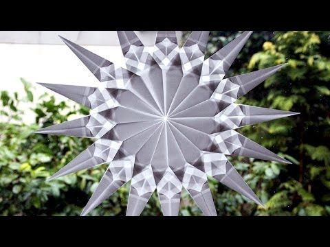 Schöne Stern Fenster Deko selber machen - YouTube  Kerst  Pinterest  Origami, Star and Window