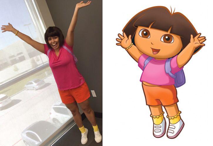 Dora The Explorer Halloween Costume Consists Of Short Brown Hair Wig Walmart Or Cost Brown Hair Halloween Costumes Mother Daughter Costumes Short Brown Hair